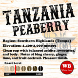 Tanzania Peaberry Tempo Region Single Origin Coffee Beans