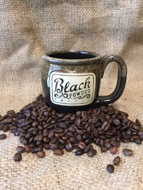 Black Powder Pottery Coffee Mug