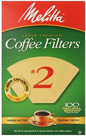 Cone Coffee Filter #2 - Natural Brown 100 Count
