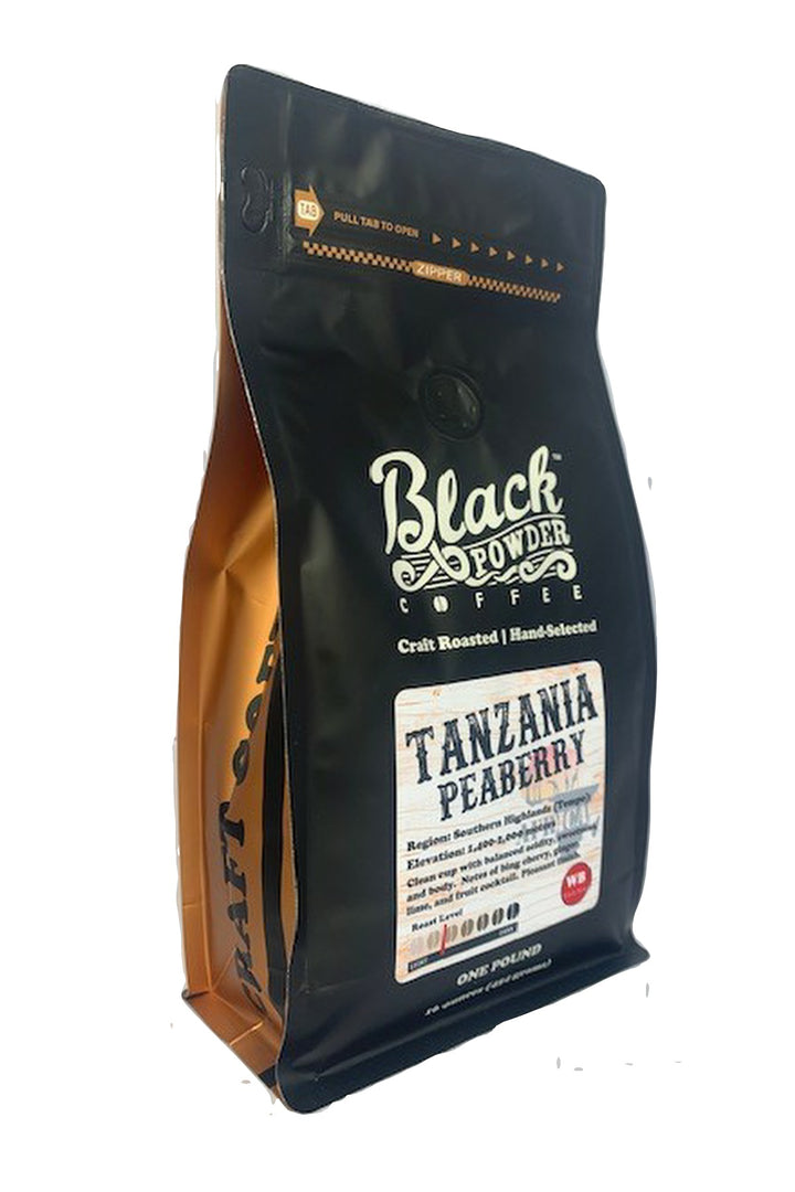 tanzania peaberry craft roasted coffee light roast