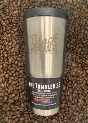 Black Powder Coffee Stainless Steel Coffee Tumbler