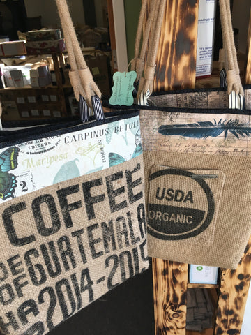 Coffee Jute Tote Bag