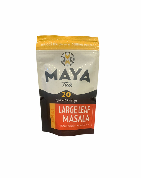 Large Leaf Masala | Maya Tea | 20 Pyramid Chai Tea Bags