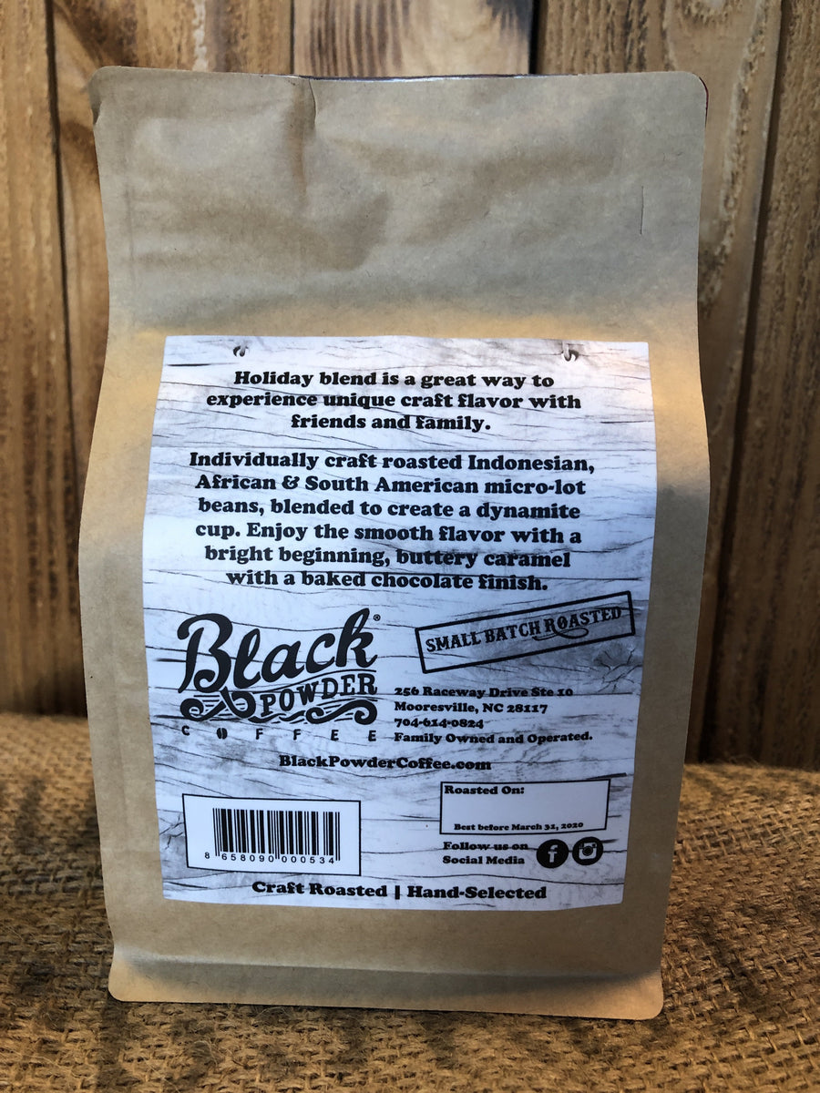 Holiday Coffee Locally Roasted by Black Powder Coffee