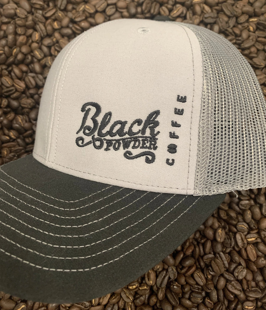 Richardson 112 Snap Back Trucker Hat | Black Powder Coffee Hats | NEW