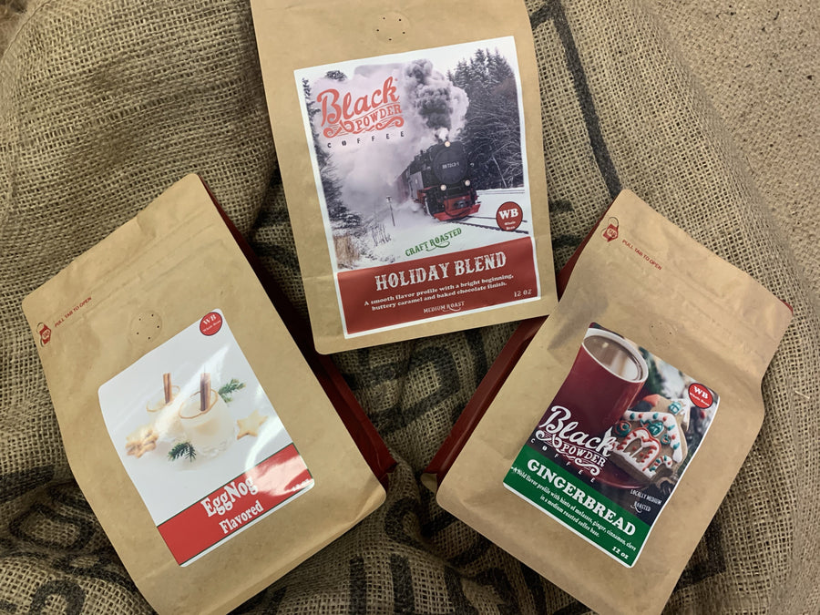 Coffee makes great gifts for the holidays! Try our Holiday sampler!