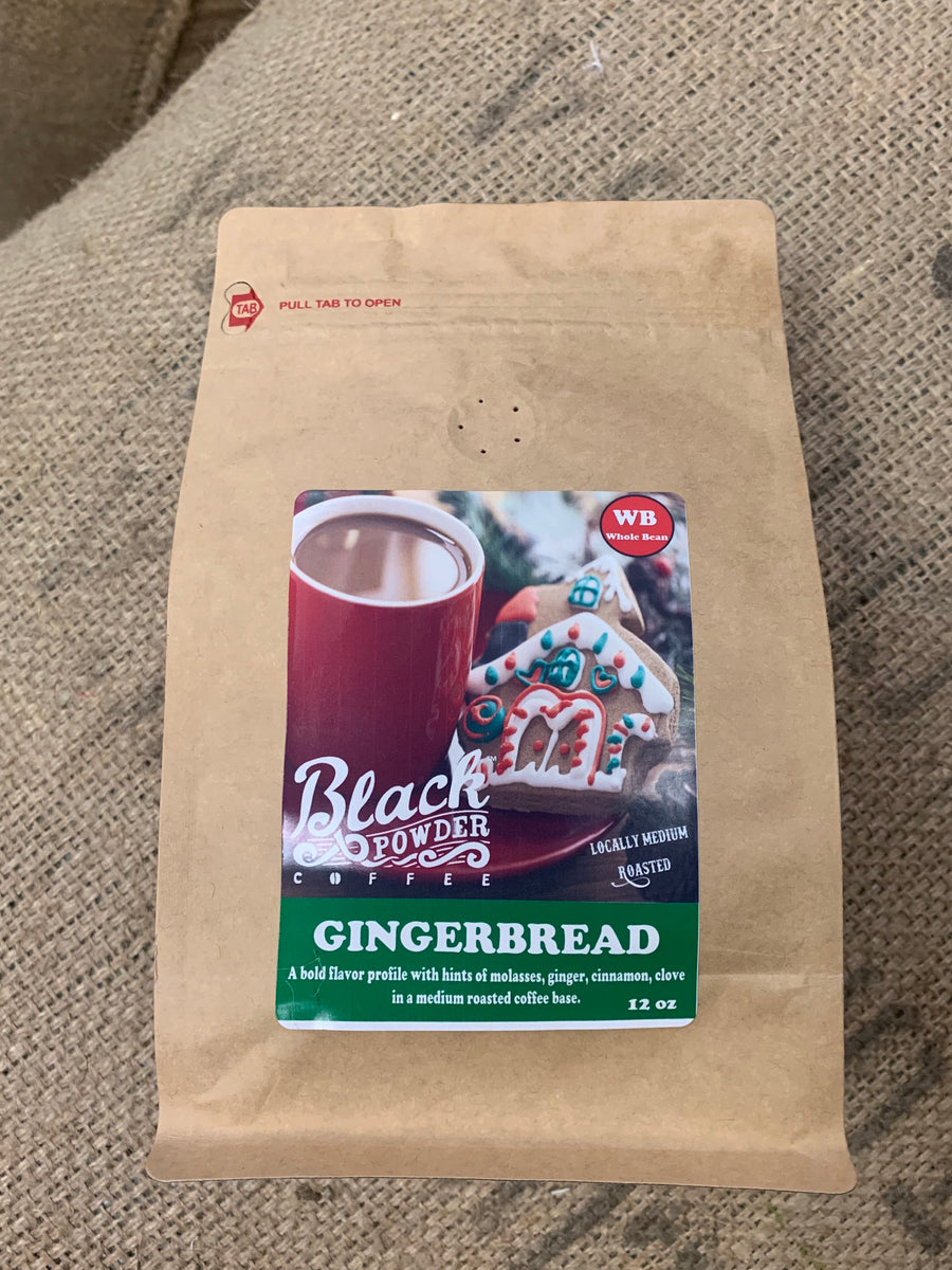 Black Powder Coffee Gingerbread flavored coffee