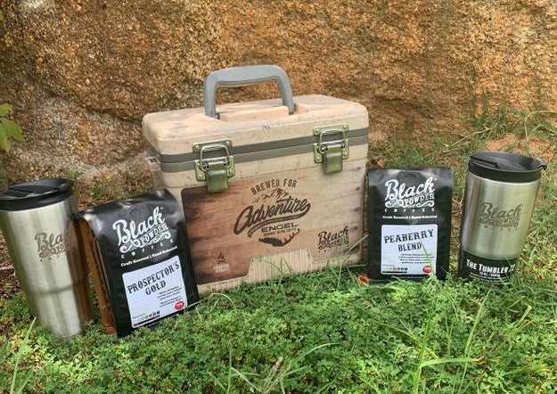 Brewed for Adventure outdoor coffee cooler package