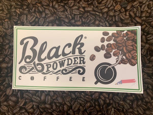 Black Powder Coffee Stickers