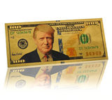 Gold Plated $100 President Donald J. Trump Commemorative Bank Note