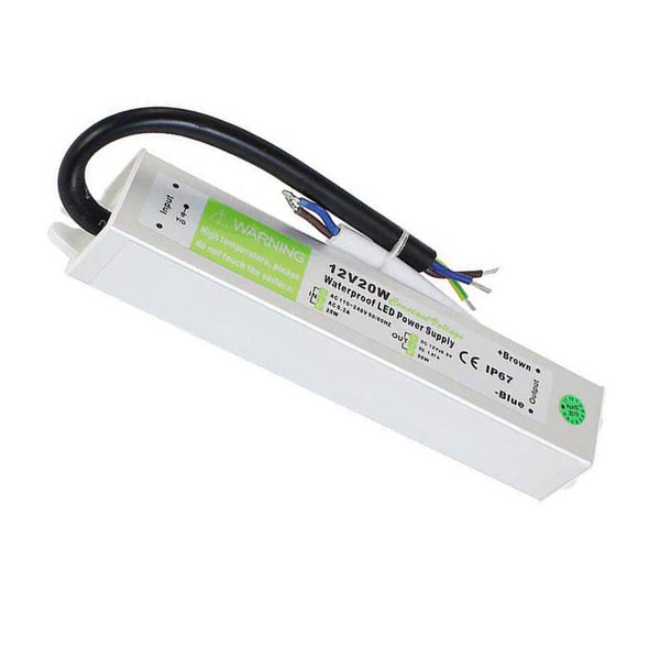 DC12V IP67 20W Waterproof  LED Driver Power Supply Transformer