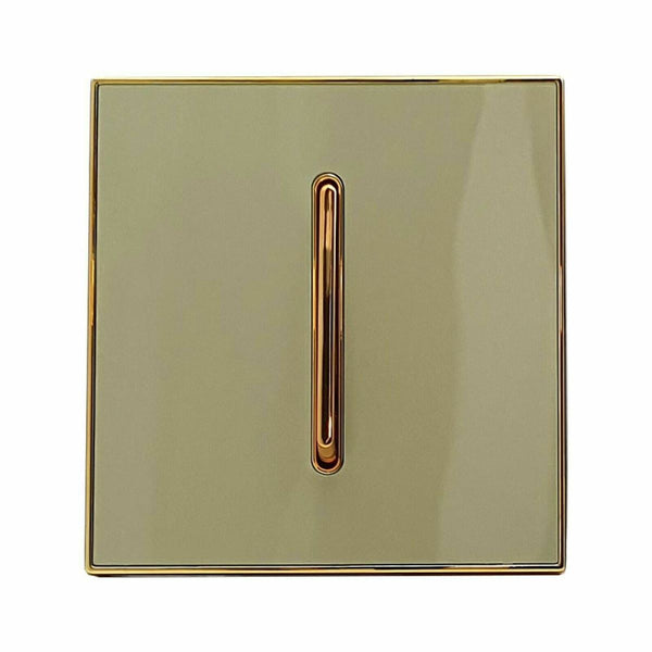 1 Gang Screw less Wall Light Gold Glossy Switch - Shop for LED lights - Transformers - Lampshades - Holders | LEDSone UK