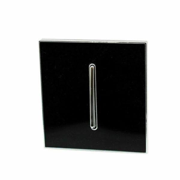 1 Gang switches Square Glossy Black Screwless Flat plate Wall light - Shop for LED lights - Transformers - Lampshades - Holders | LEDSone UK
