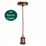 1m Pendant Light E27 Base Copper Holder