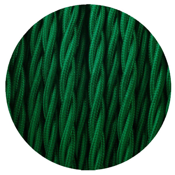 2 Core Twisted Electric Cable Dark Green colour 5m fabric 0.75mm