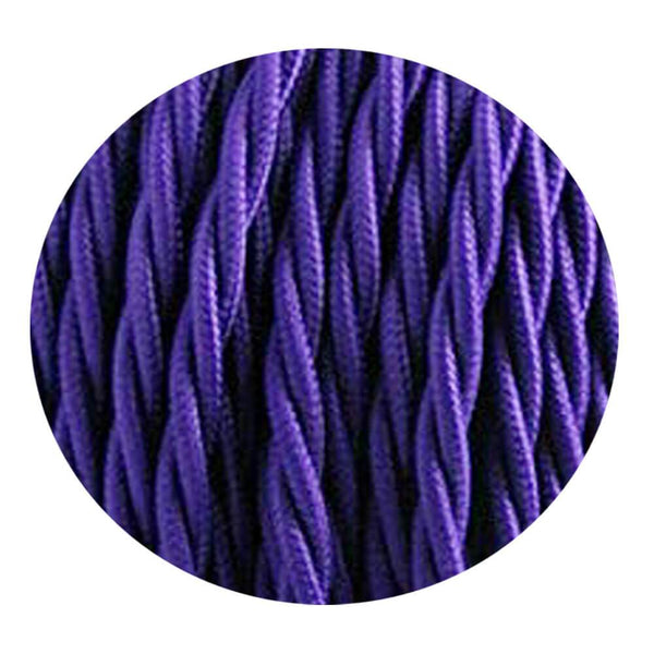 2 Core Twisted Electric Cable Purple colour 5m fabric 0.75mm