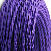 2 Core Twisted Electric Cable Purple color fabric 0.75mm - Shop for LED lights - Transformers - Lampshades - Holders | LEDSone UK