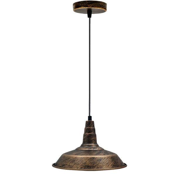 Industrial Retro Metal Pendant Lampshade Ceiling Light Shade Kitchen UK