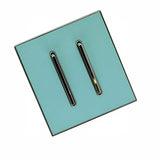 2 Gang Blue Glossy Screw less Wall Light Switch
