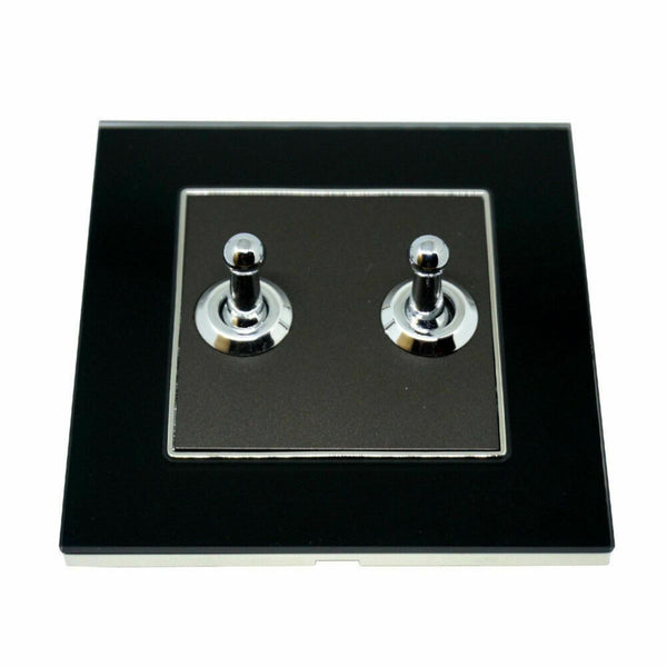 2 Gang Toggle Wall Light Screw less Switch
