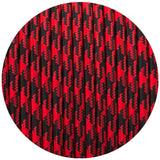 3 core Round Vintage Braided Fabric Red+Black Hundstooth Coloured Cable Flex 0.75mm - Shop for LED lights - Transformers - Lampshades - Holders | LEDSone UK