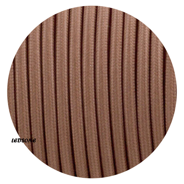 3 Core Round Light Brown cable Flex