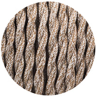 3 Core Twisted Brown Multi Tweed Vintage Electric fabric Cable Flex 0.75mm - Shop for LED lights - Transformers - Lampshades - Holders | LEDSone UK