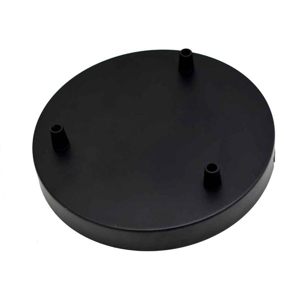 3 Point Ceiling rose 200mm Black 3