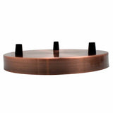 3 Point Ceiling rose 200mm Copper 2
