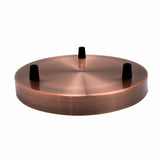 3 Point Ceiling rose 200mm Copper 3