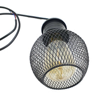 3 Way Pendant Light Wire Cage Black (3)