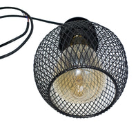 3 Way Pendant Light Wire Cage Black (4)