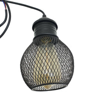 3 Way Pendant Light Wire Cage Black (5)