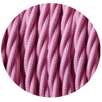 3 Core Twisted Baby Pink Vintage Electric fabric Cable Flex 0.75mm - Shop for LED lights - Transformers - Lampshades - Holders | LEDSone UK
