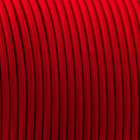 2 core Round Vintage Braided Fabric Red coloured Cable Flex 0.75mm - Shop for LED lights - Transformers - Lampshades - Holders | LEDSone UK