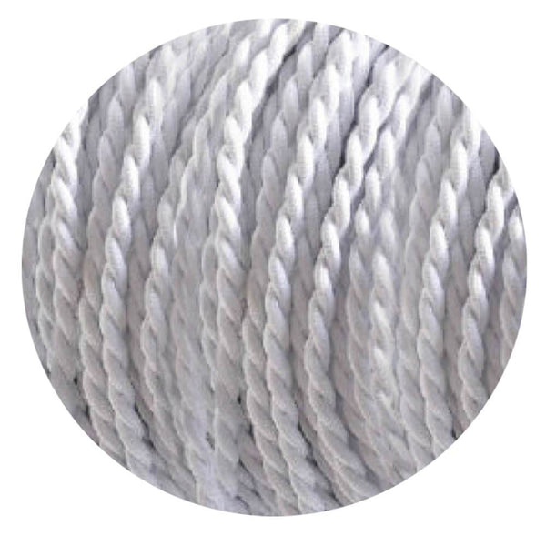 2 Core Twisted Electric Cable White colour 5m fabric 0.75mm