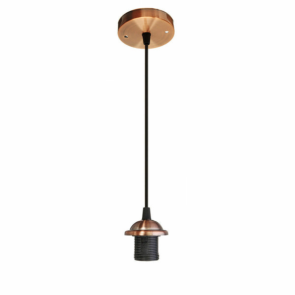 Copper E27 PVC Ceiling Rose Pendant Light