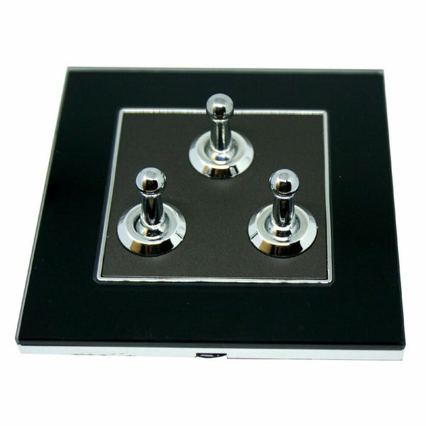 3 Gang Switch Wall Light Toggle Screw less