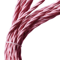 2 Core Twisted Electric Cable Shiny Pink Color Fabric 0.75mm - Shop for LED lights - Transformers - Lampshades - Holders | LEDSone UK