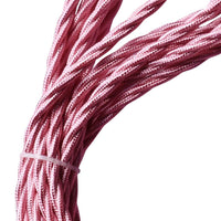 2 Core Twisted Electric Cable Shiny Pink Color Fabric 0.75mm