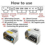 LED Driver Universal Regulated Switching Power Supply Transformer  AC 240V - DC 24V