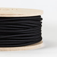 2 Core Black Vintage fabric cable