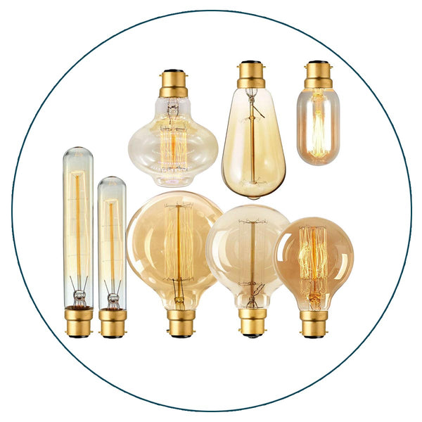 Bayonet Fitment Edison Vintage Filament Candle Light Lamp Bulb