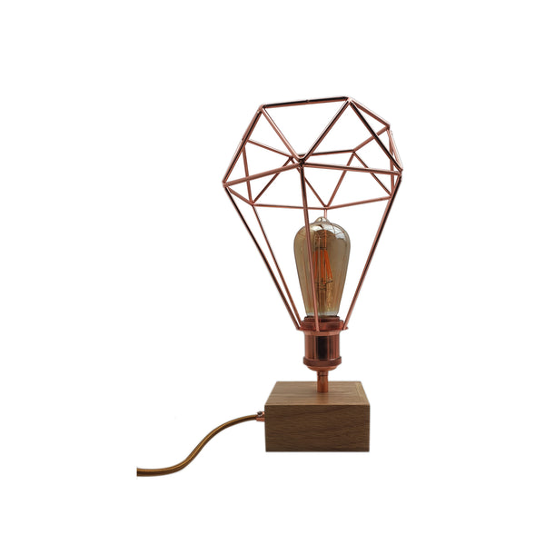 Bed Side Table Lamp LED Power Desk Lights Retro Lamp Light Geometric Industrial