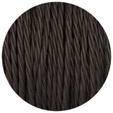 2 Core Twisted Electric Cable covered  Black color fabric 0.75mm