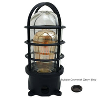 Black Industrial Wall Ceiling Cage Light Bulkhead Metal Marine Glass