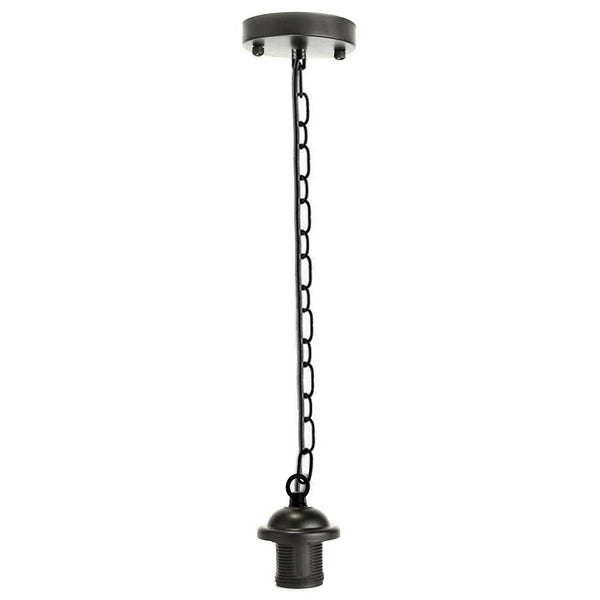 Black Metal Ceiing E27 Lamp Holder Pendant Light With Chain