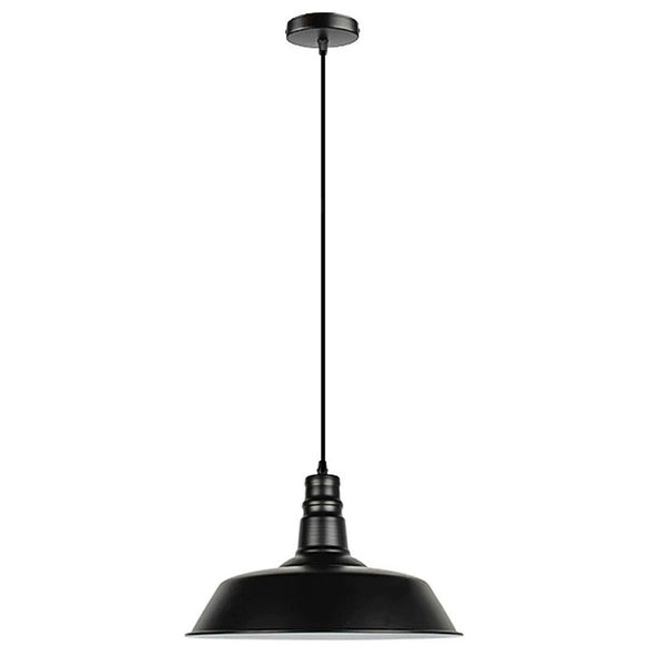 Black Pendant Light Lampshade Ceiling Light Shade With Bulb