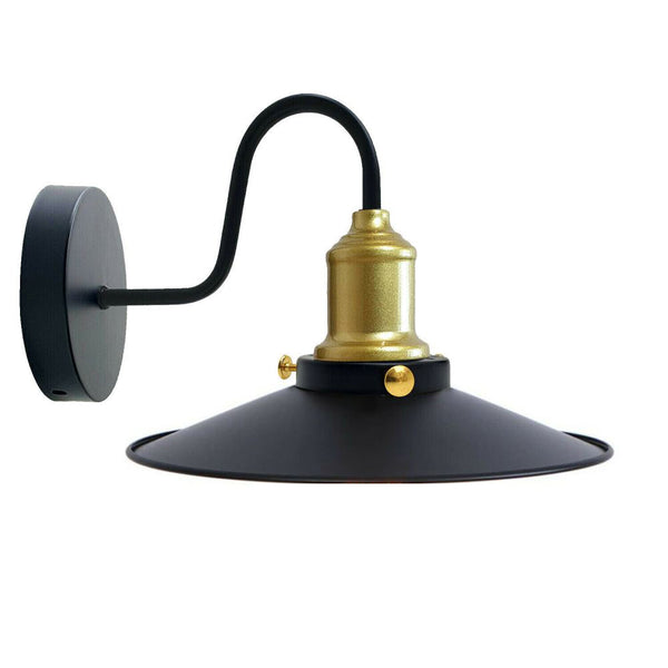 Black Shade With Gold Holder Wall Light Lampshade Modern Industrial Wall Lamp