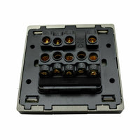 Single Double Screwless Black Light Switches & Socket Flatplate